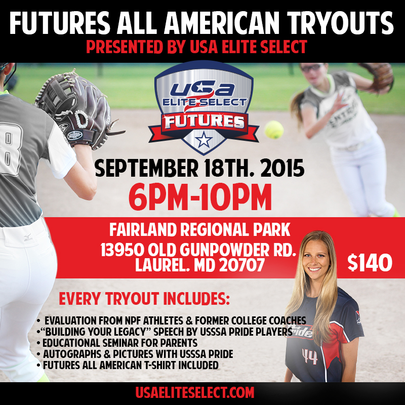 USA Elite Select Future Tryout Baltimore USSSA