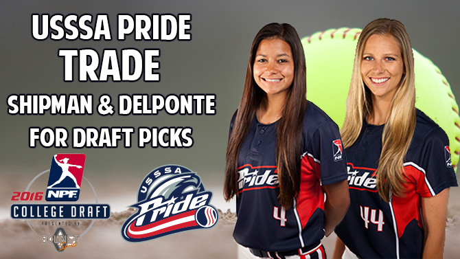 USSSA Pride Trade Shipman and Del Ponte for Draft Picks