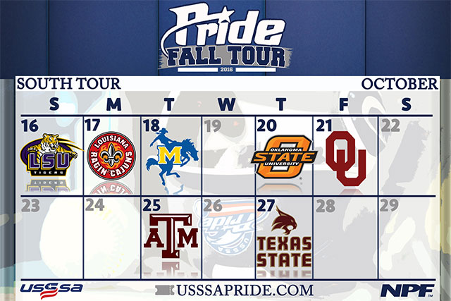 USSSA Pride Fall Tour Heads South