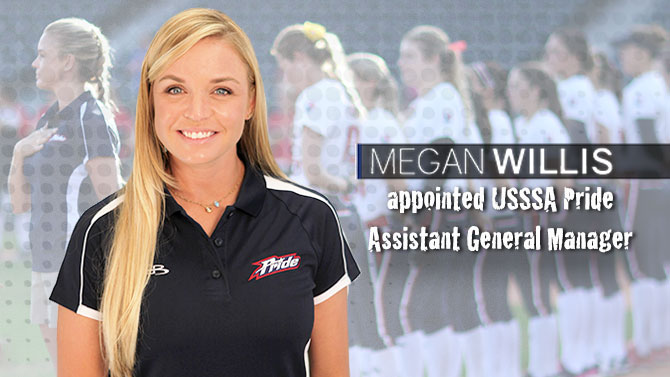 USSSA Pride Announce Megan Willis as Assistant General Manager