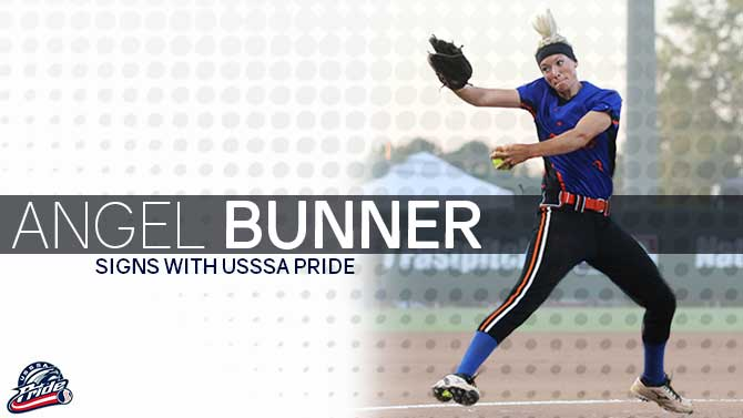 USSSA Pride Sign Angel Bunner for the 2017 Season