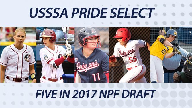 USSSA Pride Select Five in 2017 NPF Draft